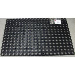 Reikämatto Ringo 50 x 80 cm musta