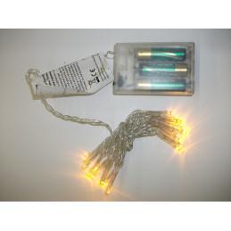 Valosarja 20-LED paristoilla, KELTAINEN