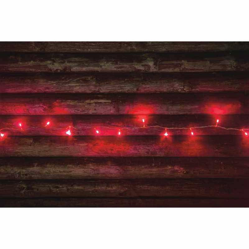 Valoketju 80-LEDIN, Punainen, Finnlumor
