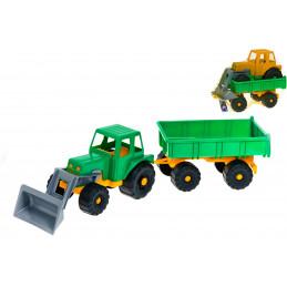 Traktori peräkärryllä