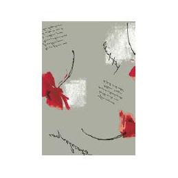 Vahakangas Wondertex 120 cm punaiset kukat harmaa