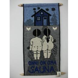 Seinävaate, Onni on oma sauna, sininen