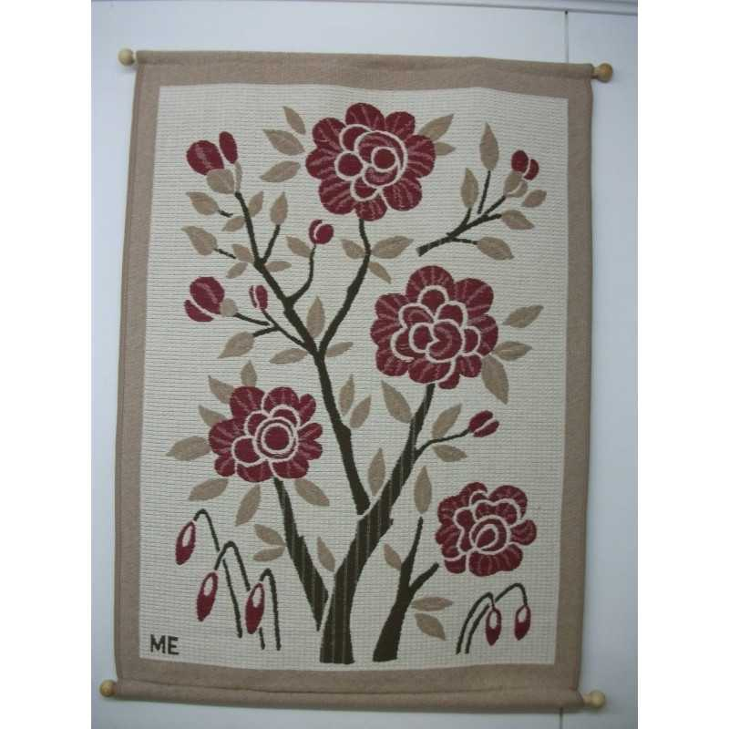 Gobeliini 80x120 cm, Ruusut, v.ruskea ja v.pun.