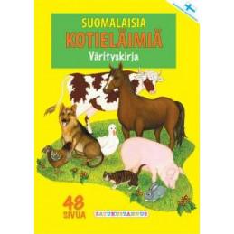 Suomalaisia kotieläimiä värityskirja