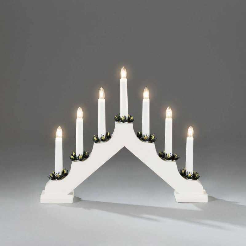 Kynttelikkö valkoinen Konstsmide