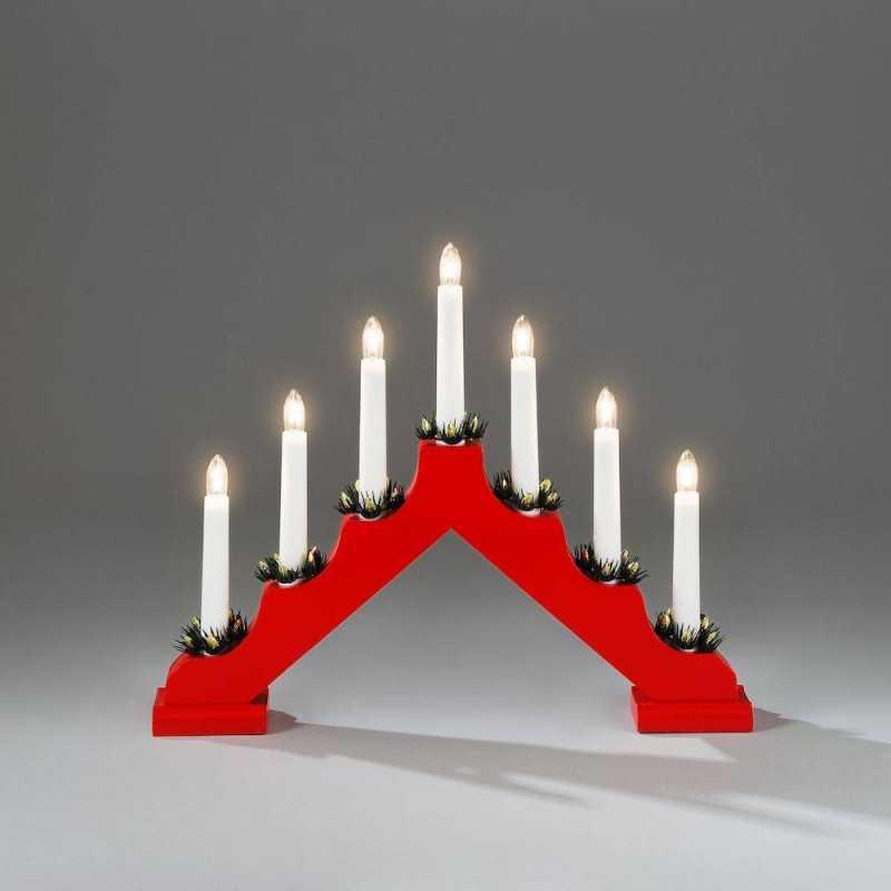 Kynttelikkö punainen Konstsmide
