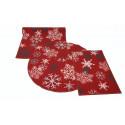 Joulukynnysmatto 50x80 cm punainen hiutale