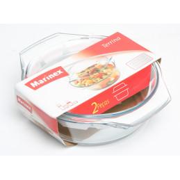 Lasi/uunivuoka kannella 1,9 l