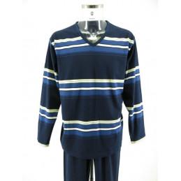 Miesten pyjama siniraita