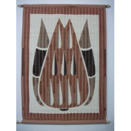 Puoliryijy 80x120 cm, Pisarat, ruskea